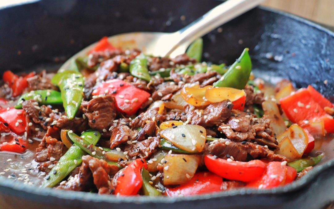 Black Pepper Steak Stir Fry