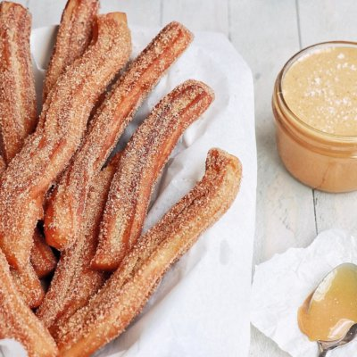 Churros with sea salt cajeta