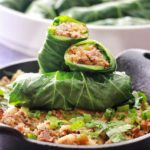 Collard Egg rolls with cornbread dressing
