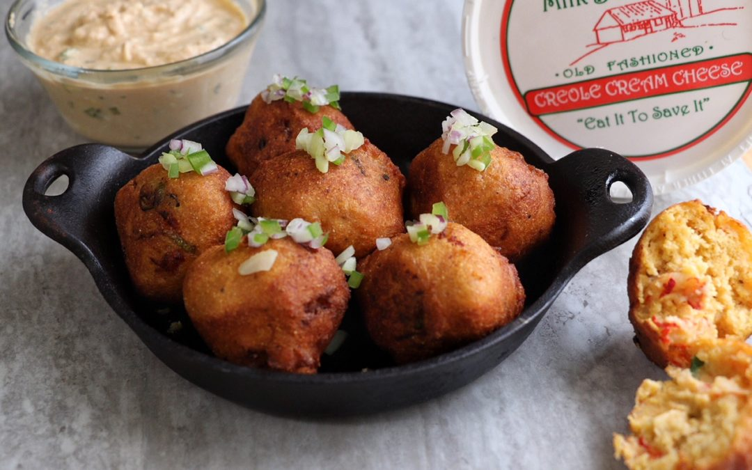 Crawfish Fritters with Creole Cream Cheese Remoulade