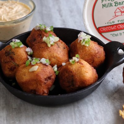 Crawfish Fritter with Creole Cream Cheese Remoulade