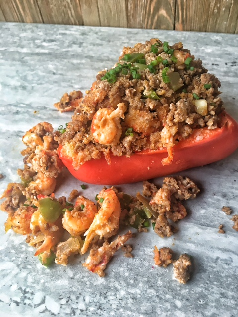 Crawfish Stuffed Bell Peppers