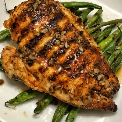 Grilled Chicken with Crown Royal Glaze