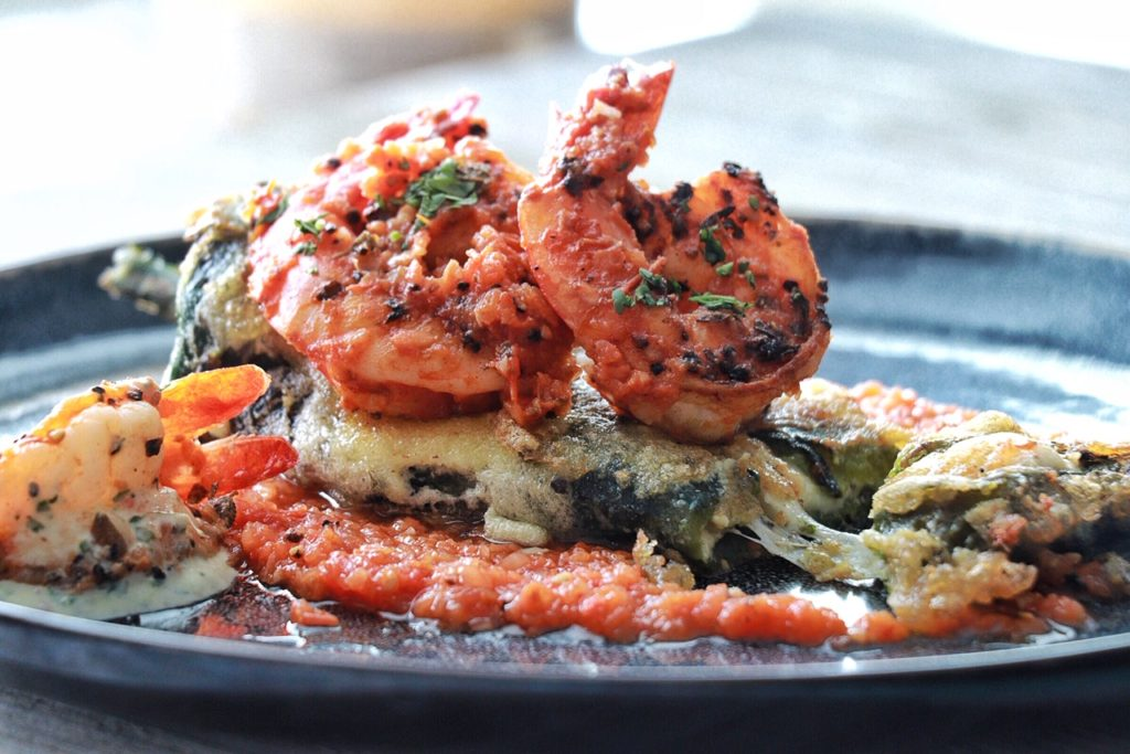 Grilled Shrimp Chile Relleno