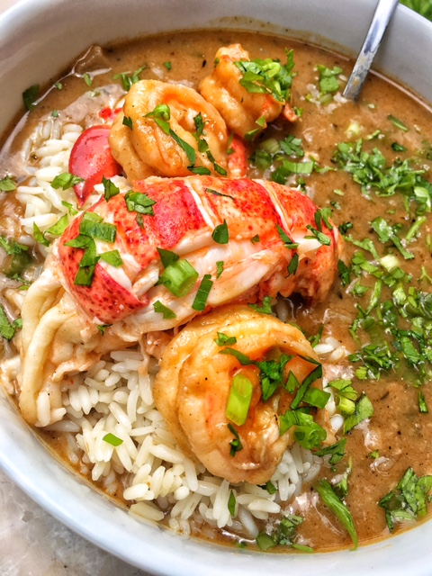 Lobster and Shrimp Etouffee