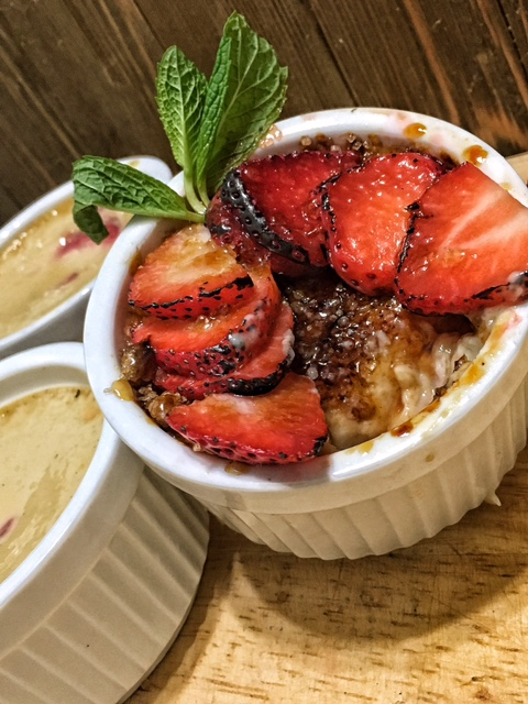 Strawberry Creme Brulee