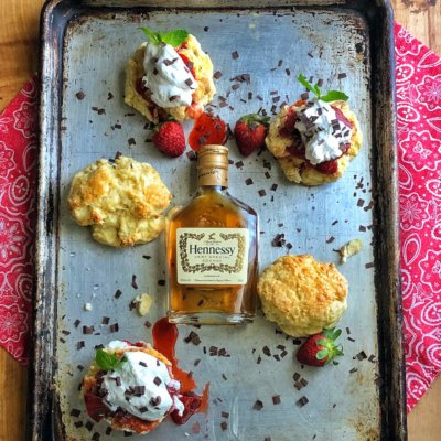 Strawberry Shortcake with Hennessy Whipped Cream