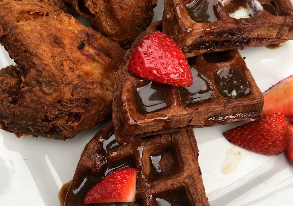 Chipotle Fried Chicken and Chocolate Waffle