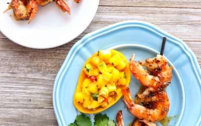 Grilled Citrus Agave Shrimp