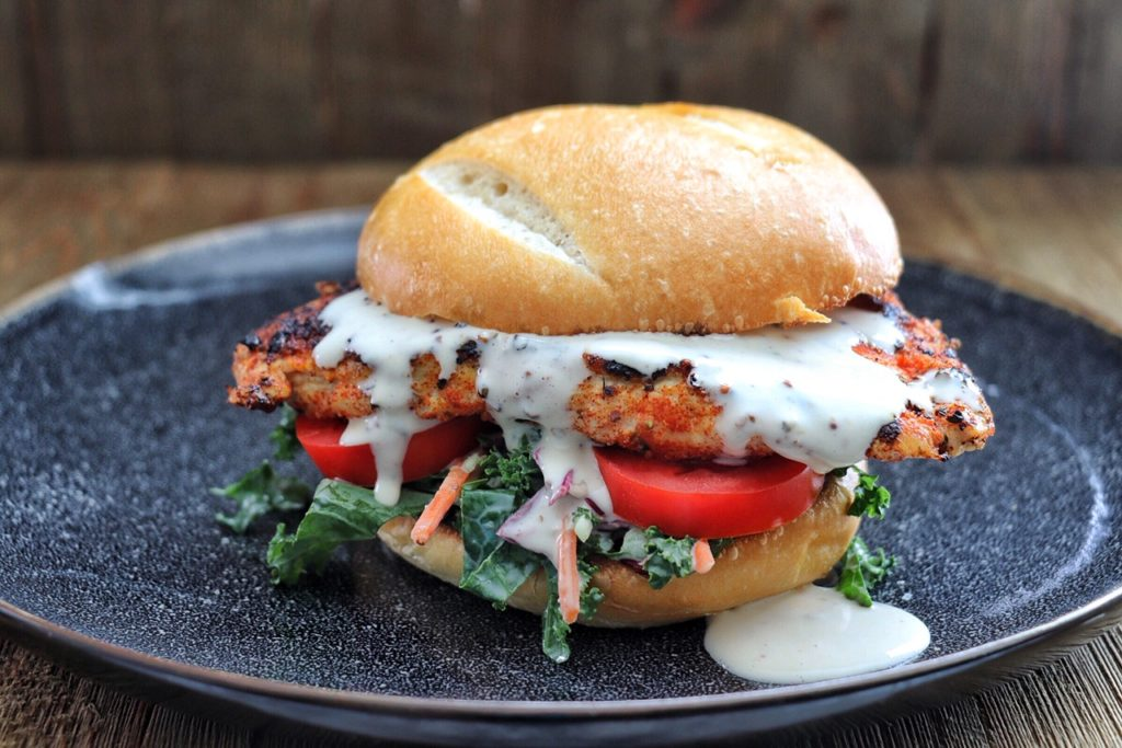 Chicken Sandwich with Alabama White Sauce