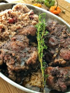 Jerk Oxtails Rice & Peas