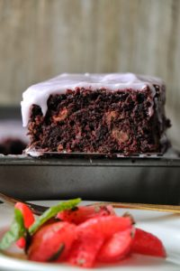 Wakanda Cake with Strawberry Mint Salad