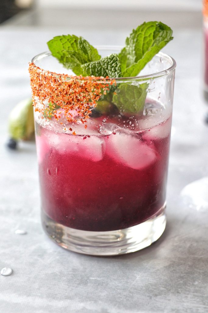 Blueberry Mint Margarita