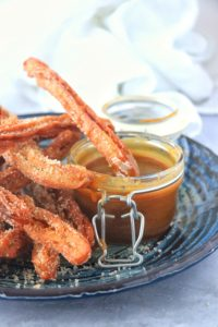 Pumpkin Spice Churros with Brown Sugar Caramel