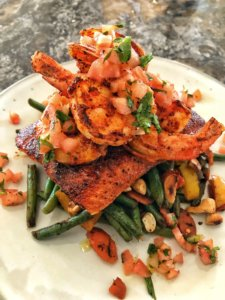 Blackened Salmon & Shrimp1